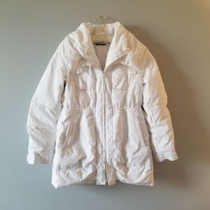 🌸 Elie Tahari White Puffer Jacket with Hood